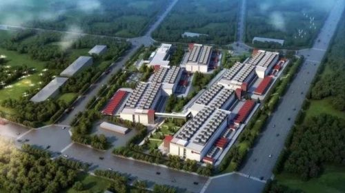 A render of the data center campus in Lhasa