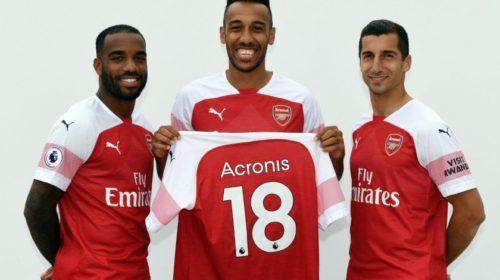 Acronis oznámil technologické partnerství s fotbalovým klubem Arsenal FC