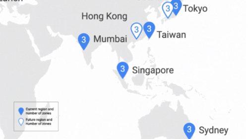 Google Cloud otevřel třetí zónu v Singapuru