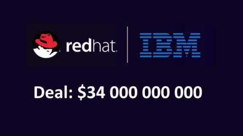 IBM koupí Red Hat za 34 miliard dolarů
