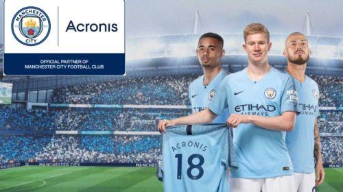 Acronis oznámil partnerství s fotbalovým klubem Manchester City