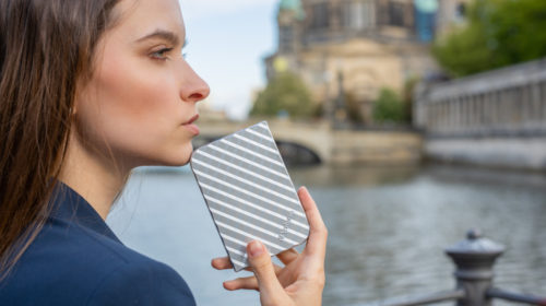SnG Portable HDD Silver_Model Lifestyle 3