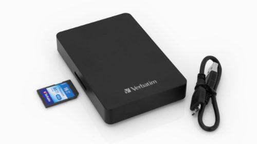 Externí HDD pevný disk s vestavěnou čtečkou SD karet