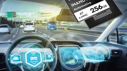 Paměť EFD 3D TLC NAND 256 GB formátu e.MMC určená pro automotive