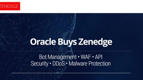 Oracle kupuje startup cloudového zabezpečení Zenedge